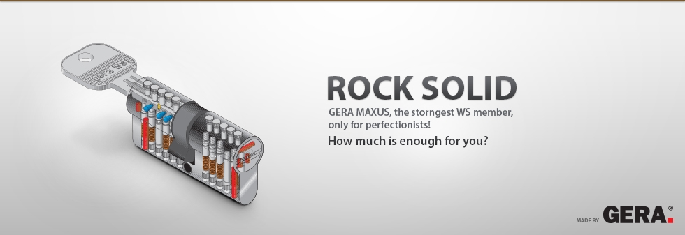 Gera MAXUS high security cylinder lock