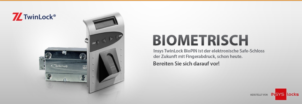 TwinLock BioPIN Tresorschloss